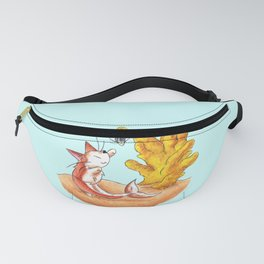 Coral Cat Tree Fanny Pack