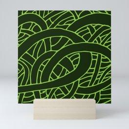 Microcosm in Green Mini Art Print
