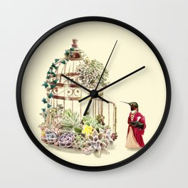 Lady Hummingbird Wall Clock