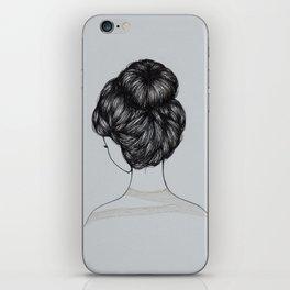 Bun Girl iPhone Skin