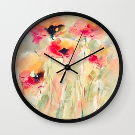 Poppies (abstract) Wall Clock