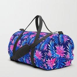 Aechmea Fasciata - Mid Blue/Pink Duffle Bag