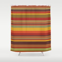 Exotic Colour Stripes Shower Curtain