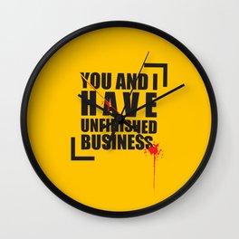 Kill Bill Minimal Poster 2.0 Wall Clock