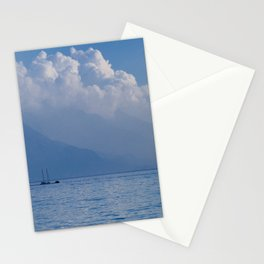 Lake Garda in the Blue Mist Stationery Cards