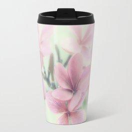 Plumeria Mint Green Travel Mug