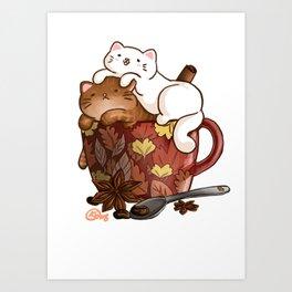 Pawmpkin Spice Latte Art Print