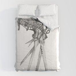 Scissorhands(BW-R) Comforters