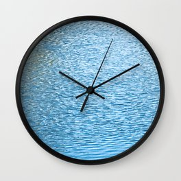 Lake Reflections With Splashes of Shaded Sunlight Abstract Wall Clock