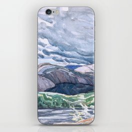Franklin Carmichael - Lake La Cloche Stormy Sky - Canada, Canadian Watercolor Painting iPhone Skin