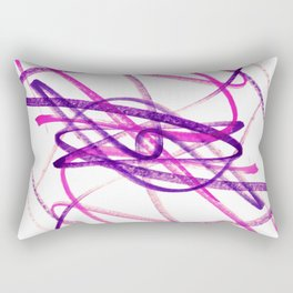 Twisted Violet Fuchsia Abstract Lines Rectangular Pillow