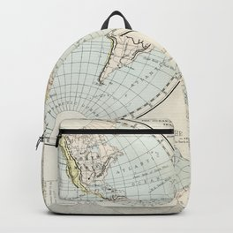 Old Map of The Globe Backpack