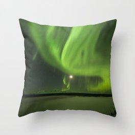 Flowing Aurora Throw Pillow