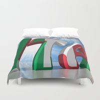 italy Duvet Covers featuring ITA - Italy by Carlo Toffolo