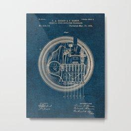 EDISON PATENTS / 02 - Chemical Stock Quotation Telegraph - Blueprint Metal Print