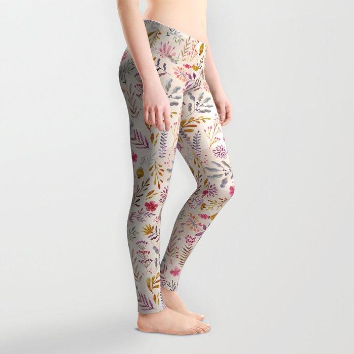Light floral Leggings