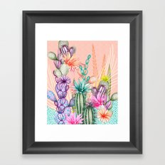 Cacti Love Framed Art Print