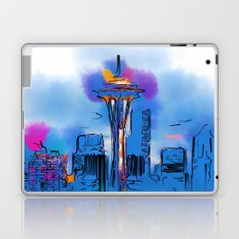 The Space Needle In Soft Abstract Laptop & iPad Skin
