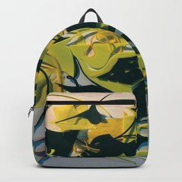 Yellow Jacket Heart- Fantasy Abstract  Backpack