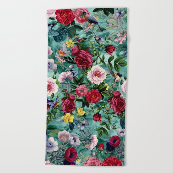 Surreal Garden Beach Towel