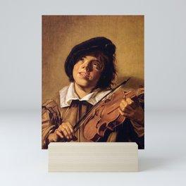 Frans Hals - Boy with a Violin - Renaissance Fine Art Retro Vintage Oil Painting Mini Art Print