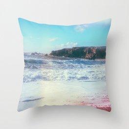 California Sunshine Waves Throw Pillow