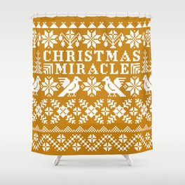 Christmas Miracle Shower Curtain