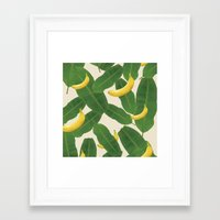 banana leaf Framed Art Prints featuring banana by aisyrahma