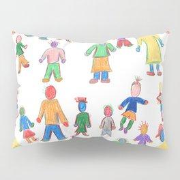 Multicolor People Multiples Pillow Sham