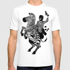 Monochrome Mens Fitted Tee SMALL White