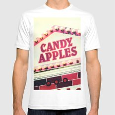 Candy Apples White Mens Fitted Tee MEDIUM
