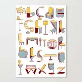 Chair alphabet Canvas Print