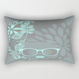 Afro Diva : Aqua Sophisticated Lady Rectangular Pillow