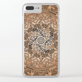 Terra Mandala Clear iPhone Case