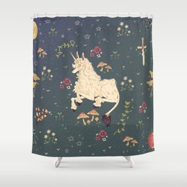 Unicorn Garden Shower Curtain