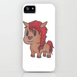 Beauty horse mare stallion sweet girl gift iPhone Case