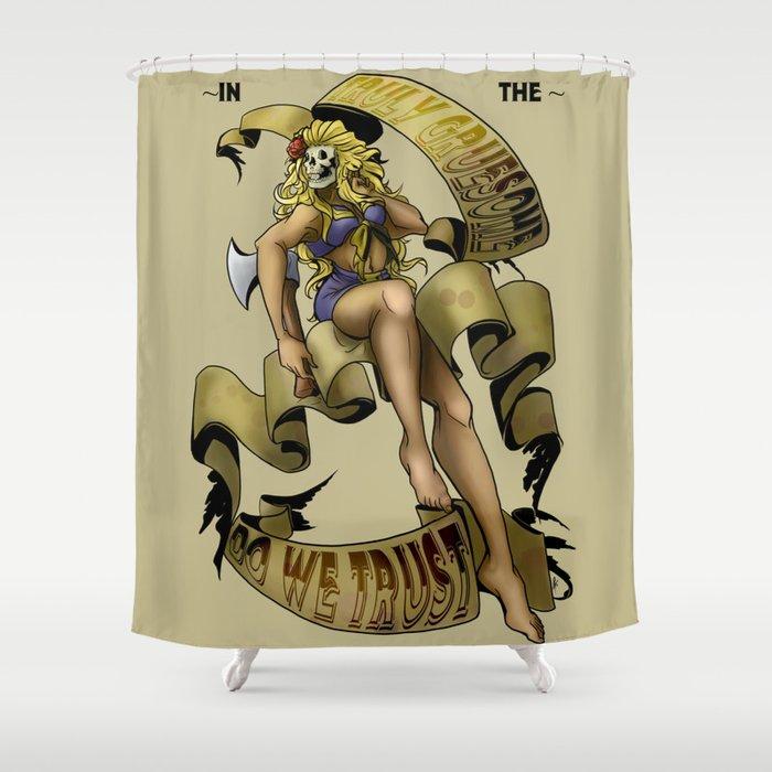 Beauty & Psycho Shower Curtain