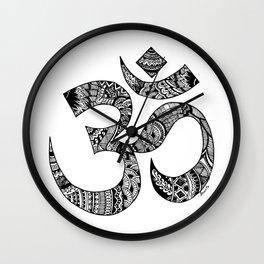 Om Zentangle Art Wall Clock