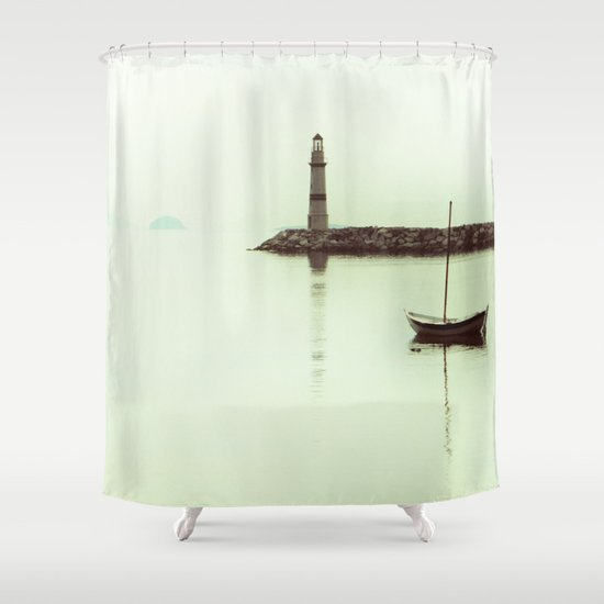 white clear life shower curtain by gzm guvenc society6