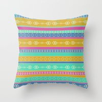 southwest Throw Pillows featuring Southwest Dawn by Rebecca L. Davis