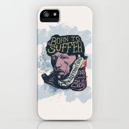 Van Gogh Typography Drawing iPhone Case