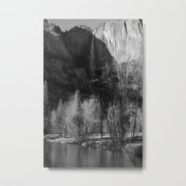 Tree Reflection and Falls Metal Print