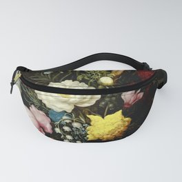"Ambrosius Bosschaert the Elder ""Bouquet of Flowers in a Glass Vase"" Fanny Pack"