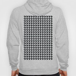 Night Watch Pewter Green Hexagon, Cube Pattern Optical Illusion Hoody