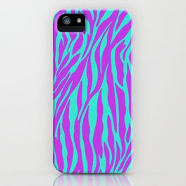 Purple and Green Zebra print iPhone Case
