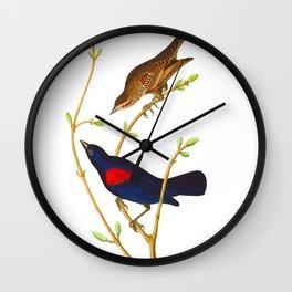 Prairie Starling Bird Wall Clock