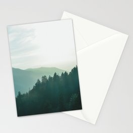 Green Forest, Slow down! Stationery Cards