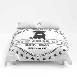 Black Dog Day Official Logo Comforters