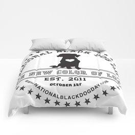 Black Dog Day Official Logo Comforters