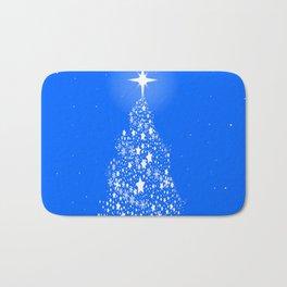 Star Spangled Snowflake Christmas Tree Bath Mat